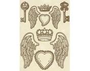 Metal y madera ornamentos / adornos, amuletos