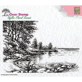Nellie Snellen Motif stamp, banner, landscape