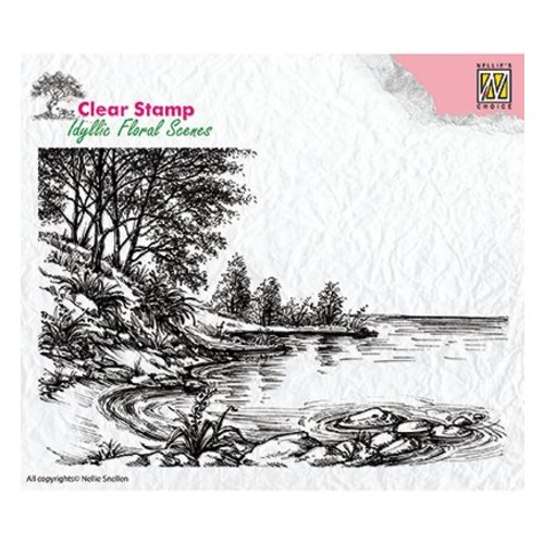 Nellie Snellen Motivstempel, Transparent, Landschaft