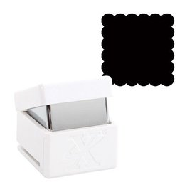 Locher / Stanzer Motiefstempel, vierkante rand met motief, ca. 1,5 cm groot
