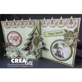 Crealies und CraftEmotions Klipp Stencils, Crealies Lav et kort