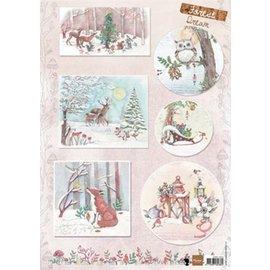 Marianne Design Billede A4 med 6 julbilleder