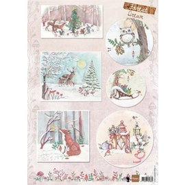 Marianne Design Foglio illustrativo A4 con 6 foto di Natale