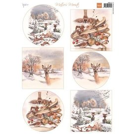 Marianne Design Picture sheet A4, Mattie's most beautiful winter