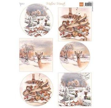 Marianne Design Billedark A4, Matties smukkeste vinter