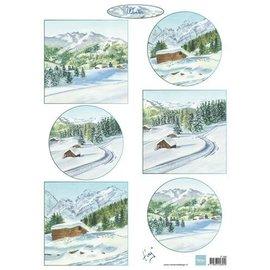 Marianne Design Bilderbogen A4 , Winterlandschaft