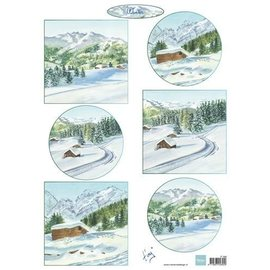 Marianne Design Prentenvel A4, winterlandschap