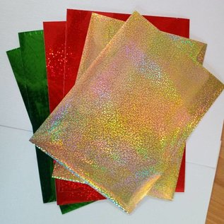 STICKER / AUTOCOLLANT A5 sticker foils, very fine, red, green and gold
