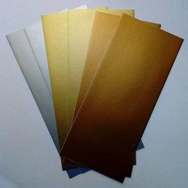 Sticker Stickerfolien, hauchfein, silber, gold und Kupfer