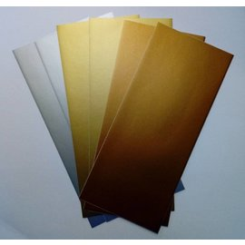 STICKER / AUTOCOLLANT Sticker foils, very fine, silver, gold and copper