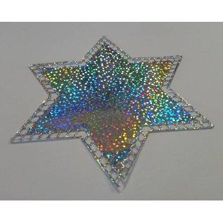 STICKER / AUTOCOLLANT Stickerfolie, transparant, zilver, groen en rood