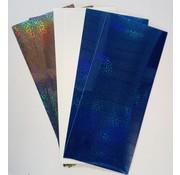 Sticker Stickerfolien, hauchfein, silbergrau, weiss und Blau