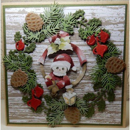 Bilder, 3D Bilder und ausgestanzte Teile usw... 3D Decoupage, Precious Marieke, Frohe Weihnachten, Santa