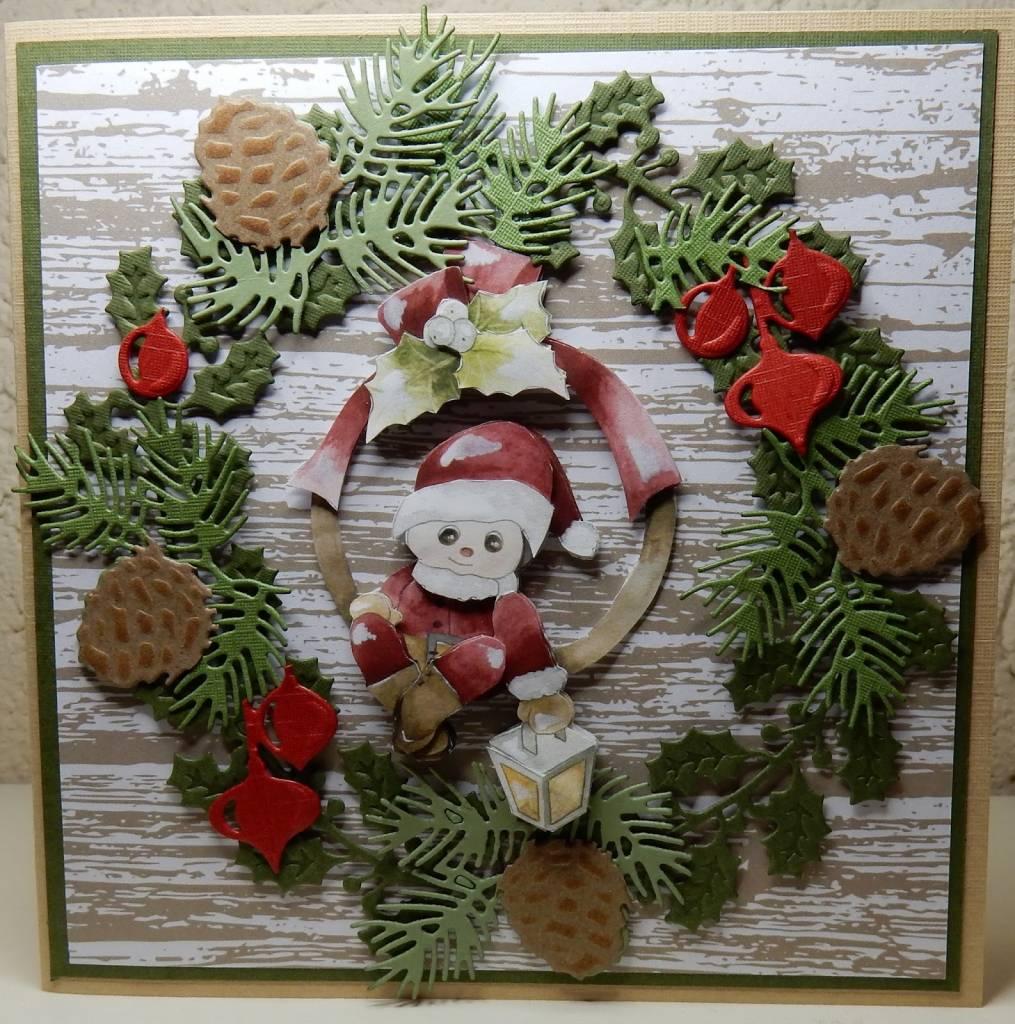 Frohe Weihnachten 3d.3d Decoupage Precious Marieke Frohe Weihnachten Santa Am Zweig