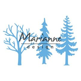 Marianne Design Corte Stencils, corte de moldes, árvores florestais (conjunto de 3)