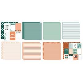 Marianne Design Kort og scrapbogpapir, prikker og striber