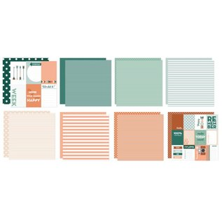 Marianne Design Cards and Scrapbooking Paper, Dots & Stripes, 30.5 x 30.5 cm