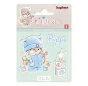 Stempel / Stamp: Transparent Frimærke motiv, banner: Baby