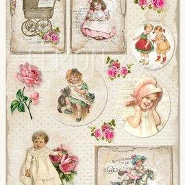 Vintage, Nostalgia und Shabby Shic Bilder Blatt A4, Vintage