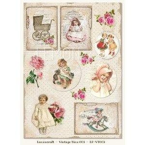 Vintage, Nostalgia und Shabby Shic Pictures sheet A4, vintage