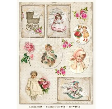 Vintage, Nostalgia und Shabby Shic Pictures sheet A4, vintage