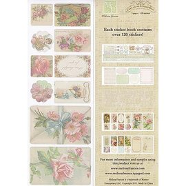 Vintage, Nostalgia und Shabby Shic C'est la Vie, Sticker Book 5 pages,120 stickers
