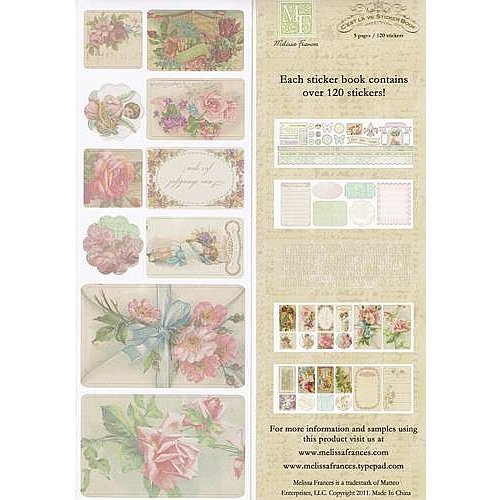 Vintage, Nostalgia und Shabby Shic C'est la Vie, Sticker Book 5 pages, 120 stickers