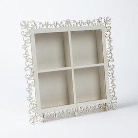 Holz, MDF, Pappe, Objekten zum Dekorieren Einen sehr schönen Shadow Box, aus Holz, 190 x 190 x 33 mm