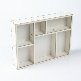 Holz, MDF, Pappe, Objekten zum Dekorieren Skygge kasse, lavet af træ