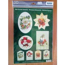 Bilder, 3D Bilder und ausgestanzte Teile usw... folha 3D pré-cortada, motivos de Natal