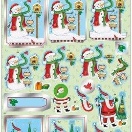 Bilder, 3D Bilder und ausgestanzte Teile usw... vorgestanzter 3D-Bogen, Weihnachtsmotive