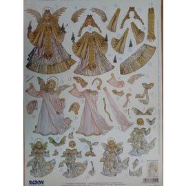 Bilder, 3D Bilder und ausgestanzte Teile usw... voorgesneden 3D-vel, kerstmotieven