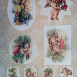 Bilder, 3D Bilder und ausgestanzte Teile usw... Basteln für Weihnachten: vorgestanzter 3D-Bogen, Weihnachtsmotive