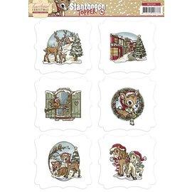 Bilder, 3D Bilder und ausgestanzte Teile usw... pre-cut bow with toppers, Christmas motives