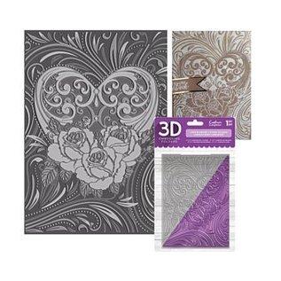 Crafter's Companion 3D Prägefolder zum prägen von Relief in Papier / Karton