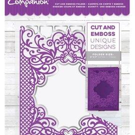 Crafter's Companion Carpeta de corte y relieve: Royal Trellis, 127 x 178 mm