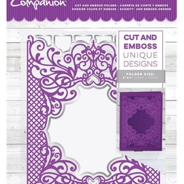 Crafter's Companion Cartella di taglio e rilievo: Royal Trellis, 127 x 178 mm
