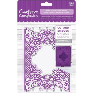 Crafter's Companion Cutting and emboss folder: Royal Trellis, 127 x 178 mm