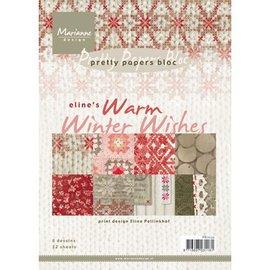 Marianne Design Carte e scrapbooking Blocco carta, A5, auguri invernali caldi