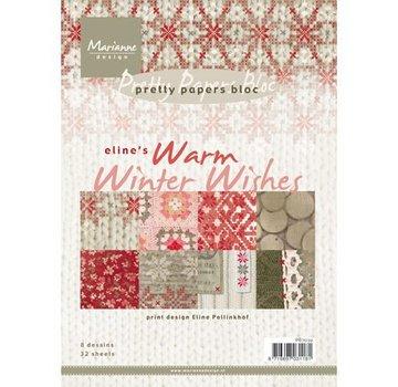 Marianne Design Kort og Scrapbooking Paper Block, A5, Varm vinter ønsker