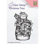 Stempel / Stamp: Transparent Stempel motiv, Transparent: Schneemann