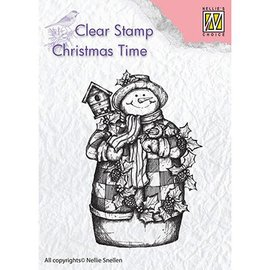 Stempel / Stamp: Transparent Estampilla con motivo, pancarta: muñeco de nieve