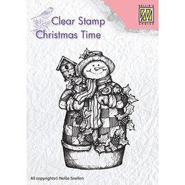 Stempel / Stamp: Transparent Stempelmotiv, banner: Snømann