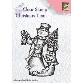 Stempel / Stamp: Transparent Kaarten maken met Stempel motief, banner: Sneeuwpop