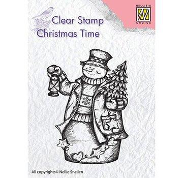 Stempel / Stamp: Transparent Frimærke motiv, banner: Snemand