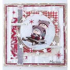 Marianne Design Stanzschablonen, Circle & stars, 106 x 107 mm