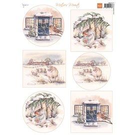 Marianne Design Prenten vel A4, de mooiste winter van Mattie