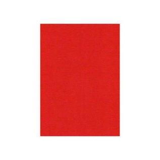 Karten und Scrapbooking Papier, Papier blöcke Linen cardboard, A5, Christmas red, 10 sheets