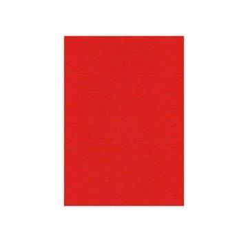 Karten und Scrapbooking Papier, Papier blöcke Linned karton, A5, Julrød, 10 ark