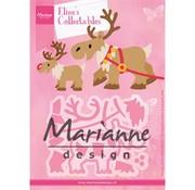 Marianne Design Stanzschablonen, Eline's Rentier